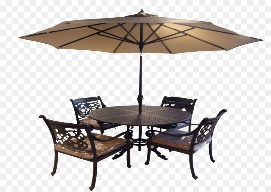 Recent Table Chair Umbrella Garden Furniture – Outdoor Umbrella Tables And With Regard To Patio Table And Chairs With Umbrellas (View 3 of 15)