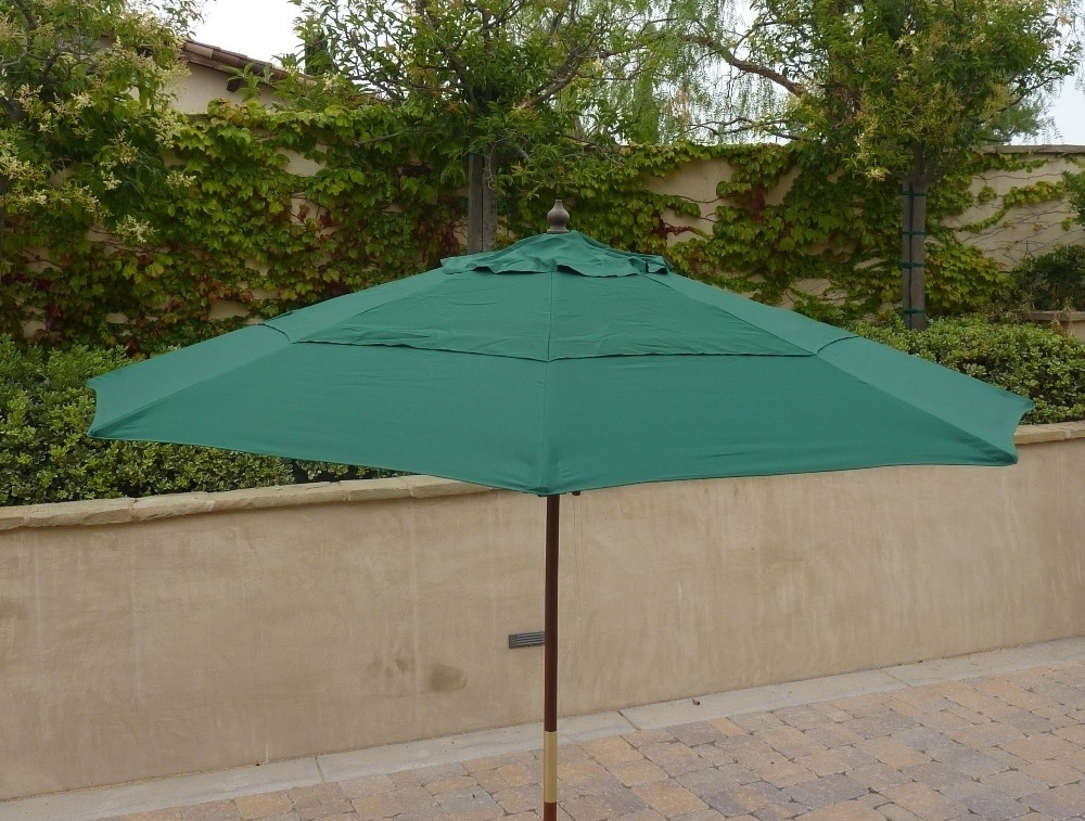Recent Vented Patio Umbrellas Within Popular Of Replacement Patio Umbrella Canopy Double Vented (View 8 of 15)