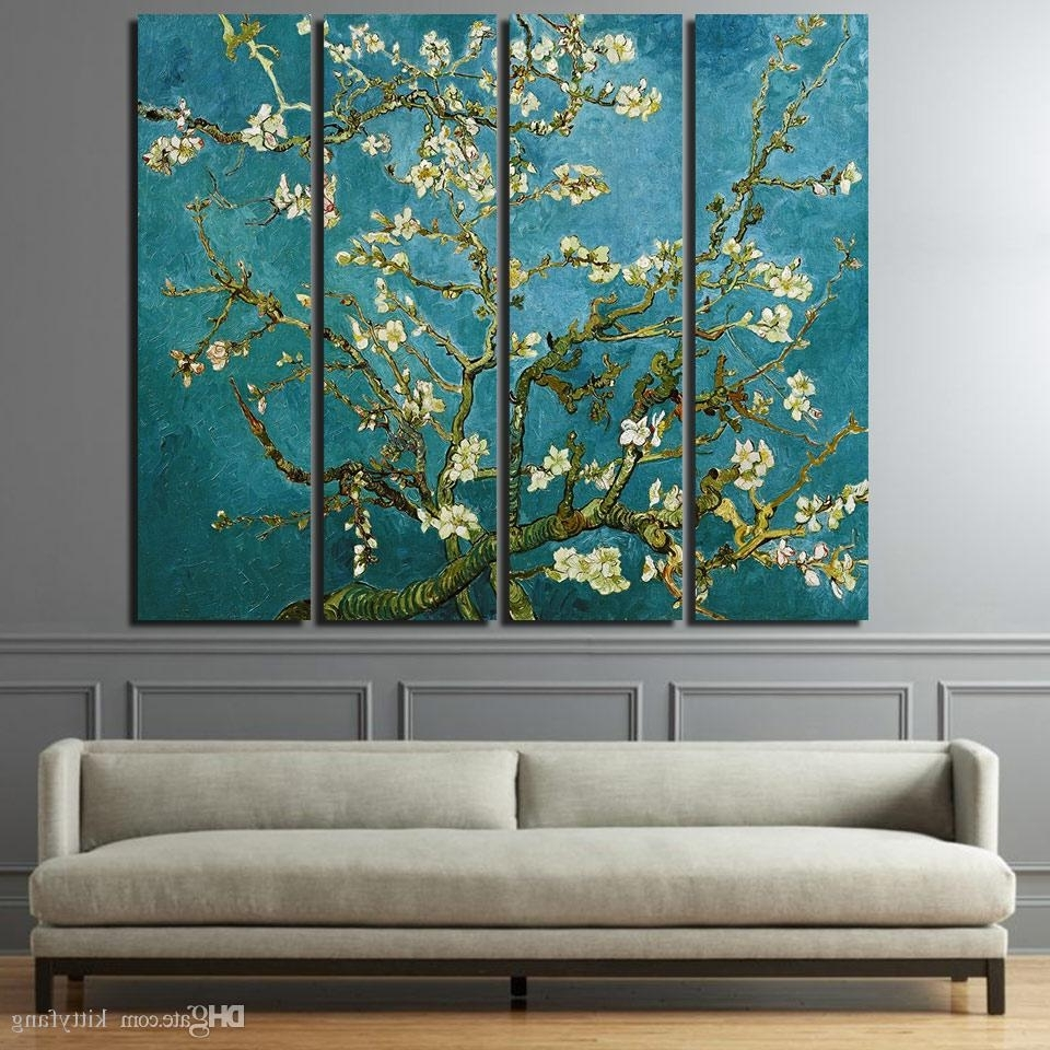 Recent Wall Art Canvas In 2018 Canvas Paintings Printed Flowering Cherry Trees Wall Art Canvas (View 7 of 15)