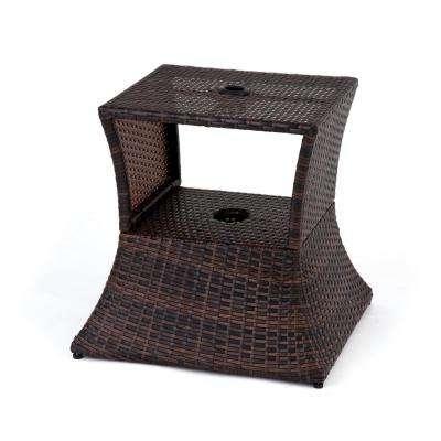 Recent Wicker Patio Furniture – Patio Umbrella Stands & Bases – Patio With Patio Umbrella Stand Side Tables (View 11 of 15)