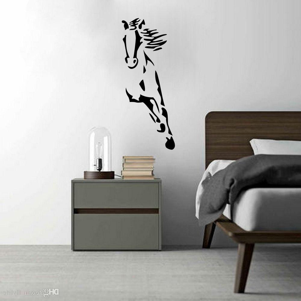 Recent Wild Running Horse Art Vinyl Wall Sticker Animal Creative Wall Decal Regarding Vinyl Wall Art (View 8 of 15)