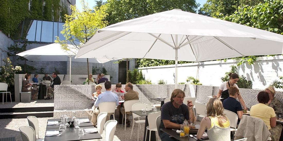 Recent Wind Resistant Patio Umbrellas For Wind Resistant Patio Umbrella – Omgminimal (View 4 of 15)
