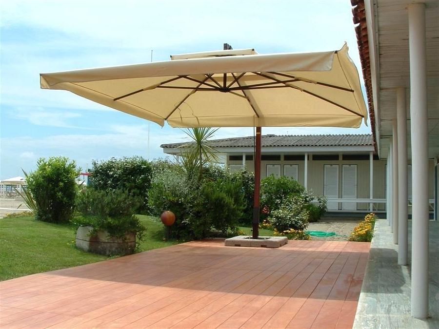 Rectangular Offset Umbrella Patio Wilson Fisher Solar 11 With Most Recently Released Rectangular Offset Patio Umbrellas (View 11 of 15)