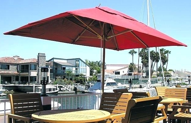 Rectangular Patio Table Umbrella – Abproductions (View 12 of 15)