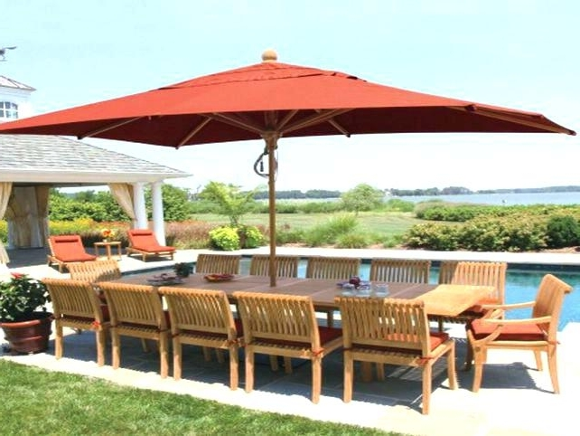 Rectangular Patio Umbrella Sunbrella Nifty About Remodel Creative With Regard To Trendy Rectangle Patio Umbrellas (View 3 of 15)