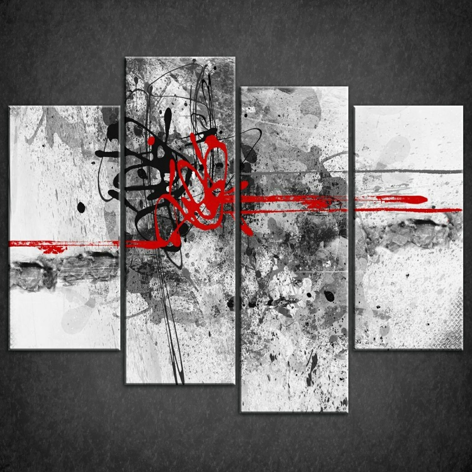Red Canvas Wall Art With Regard To Recent Canvas Print Pictures. High Quality, Handmade, Free Next Day Delivery (View 13 of 15)
