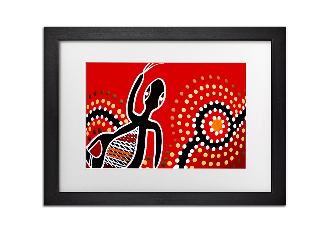 Red Gecko Sun Ethnic Ethnic Prints Framed Standard Framed Print With Famous Gecko Canvas Wall Art (View 15 of 15)