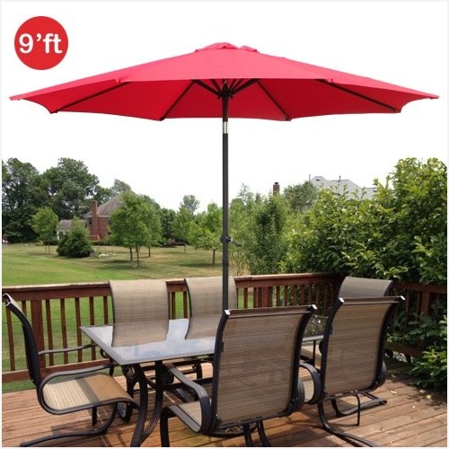 Red Patio Umbrellas » Inspirational Amazon Com Gothobby 9Ft Outdoor For Popular Amazon Patio Umbrellas (View 15 of 15)
