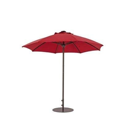 Red Sunbrella Patio Umbrellas Within Latest Red – Sunbrella – Patio Umbrellas – Patio Furniture – The Home Depot (View 10 of 15)