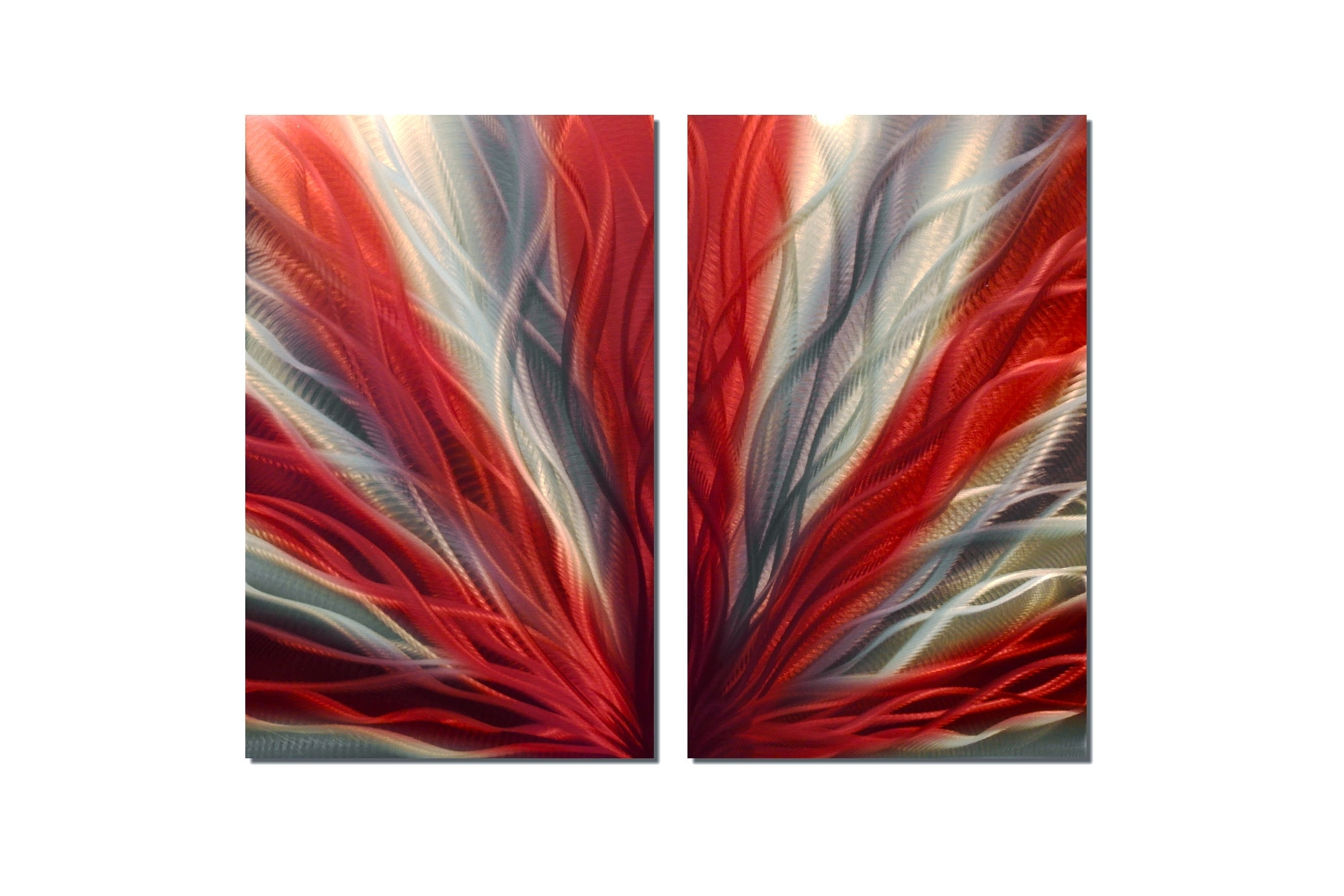 Red Wall Art Regarding Trendy Radiance Red 31 – Metal Wall Art Abstract Sculpture Modern Decor (View 11 of 15)