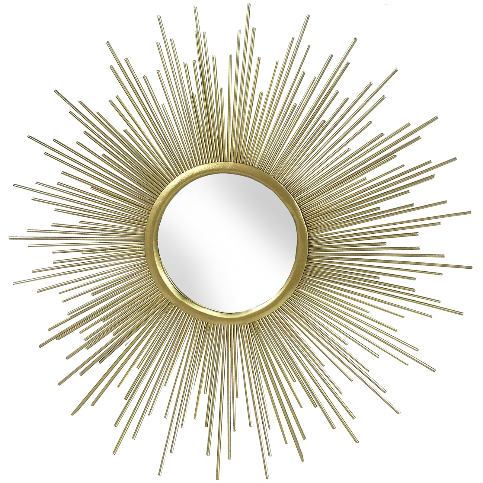 Rising Sun Gold Metal Wall Art Mirror – Casanad For Recent Gold Metal Wall Art (View 8 of 15)
