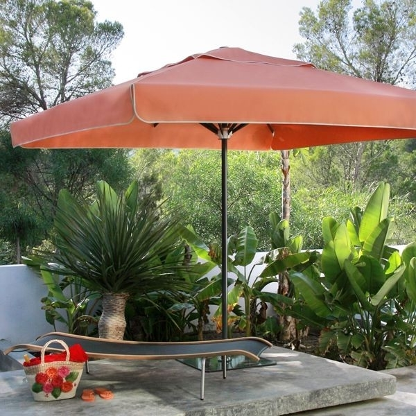 Riviera Square Patio Umbrella – Modern – Patio – Chicago  Home Throughout Newest Square Patio Umbrellas (View 8 of 15)