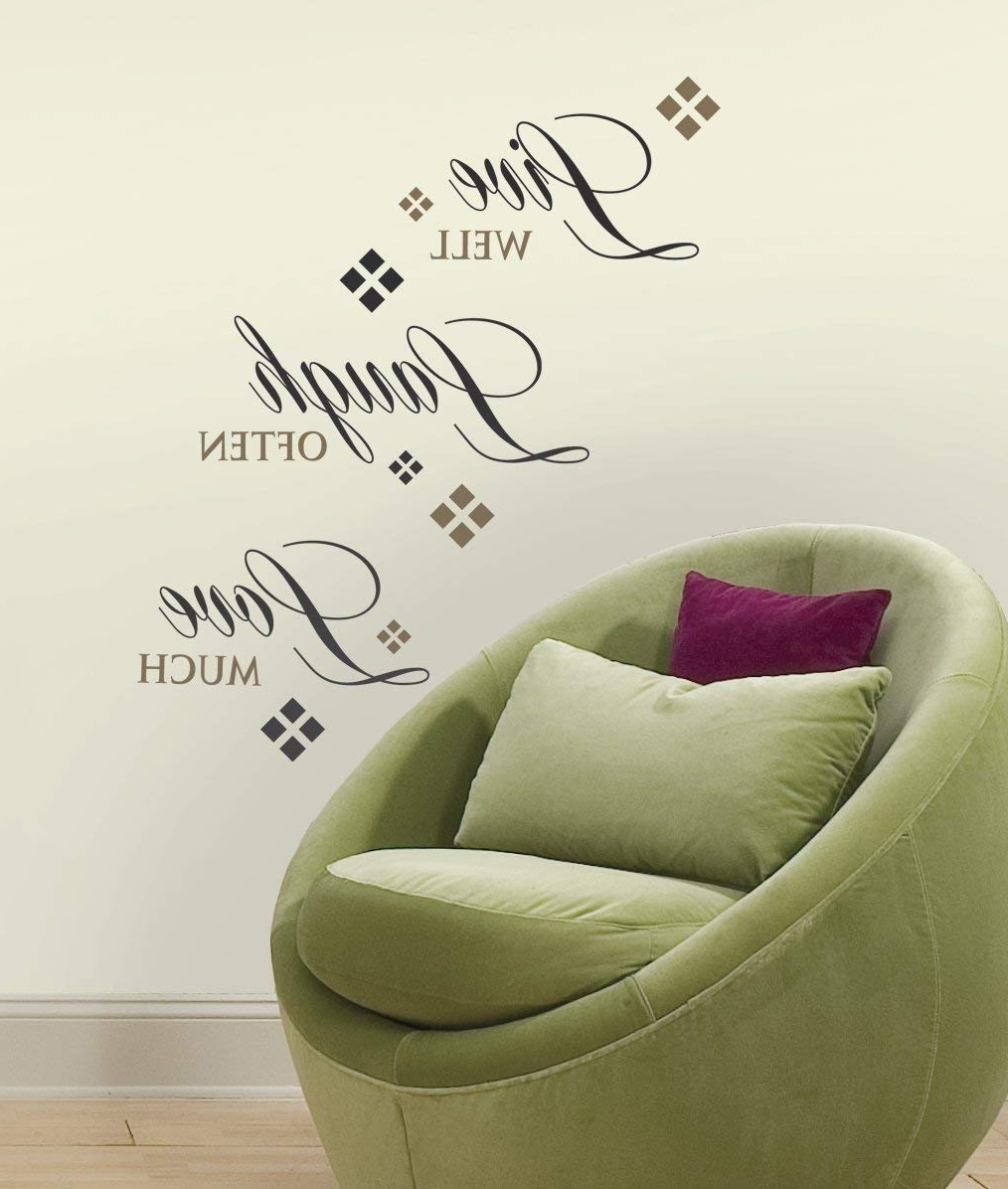 Roommates Rmk1396Scs Live, Love, Laugh Peel & Stick Wall Decals, 22 With Regard To Well Liked Stick On Wall Art (View 14 of 15)