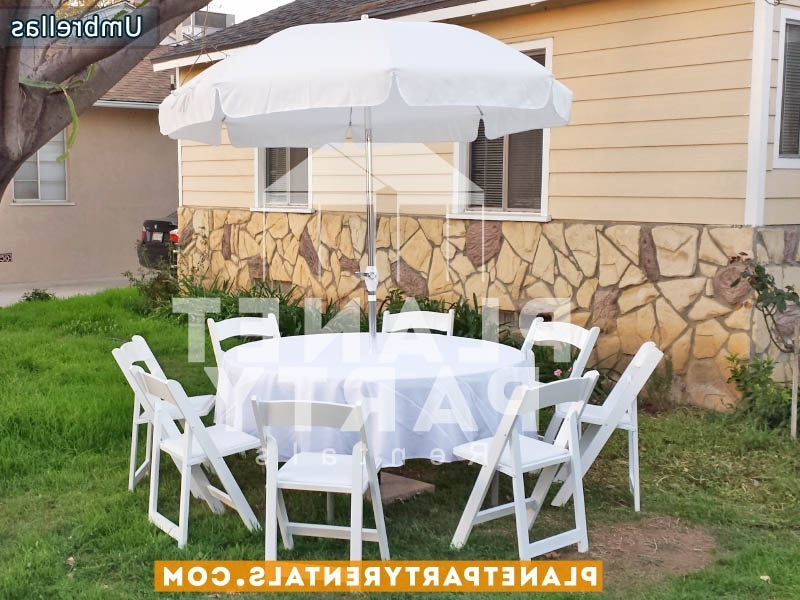 Round White Umbrella Rentals With Regard To Most Up To Date Patio Umbrellas For Rent (View 4 of 15)