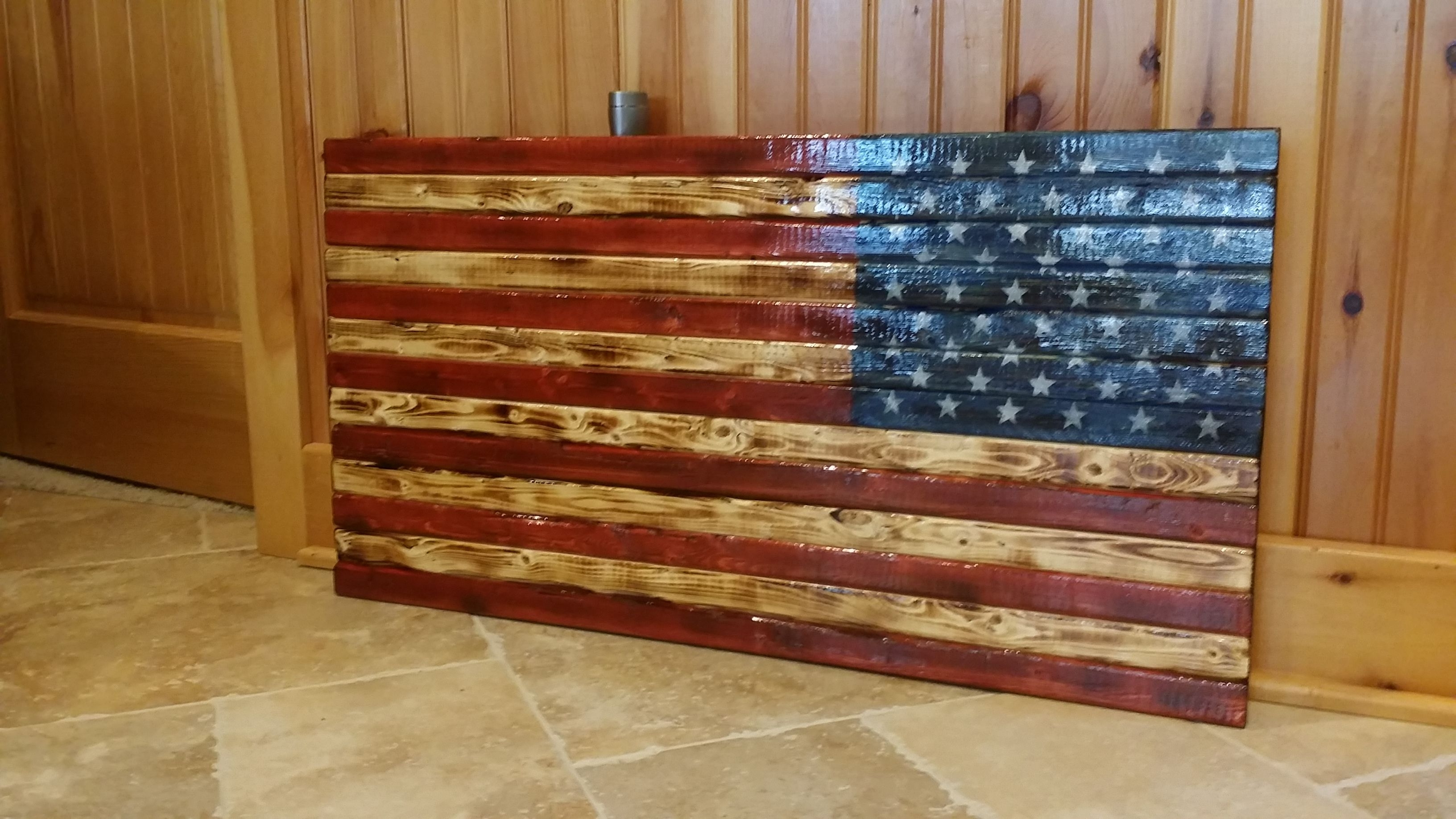Rustic American Flag Wall Art With Newest Rustic American Flag Wooden Wall Art (View 5 of 15)