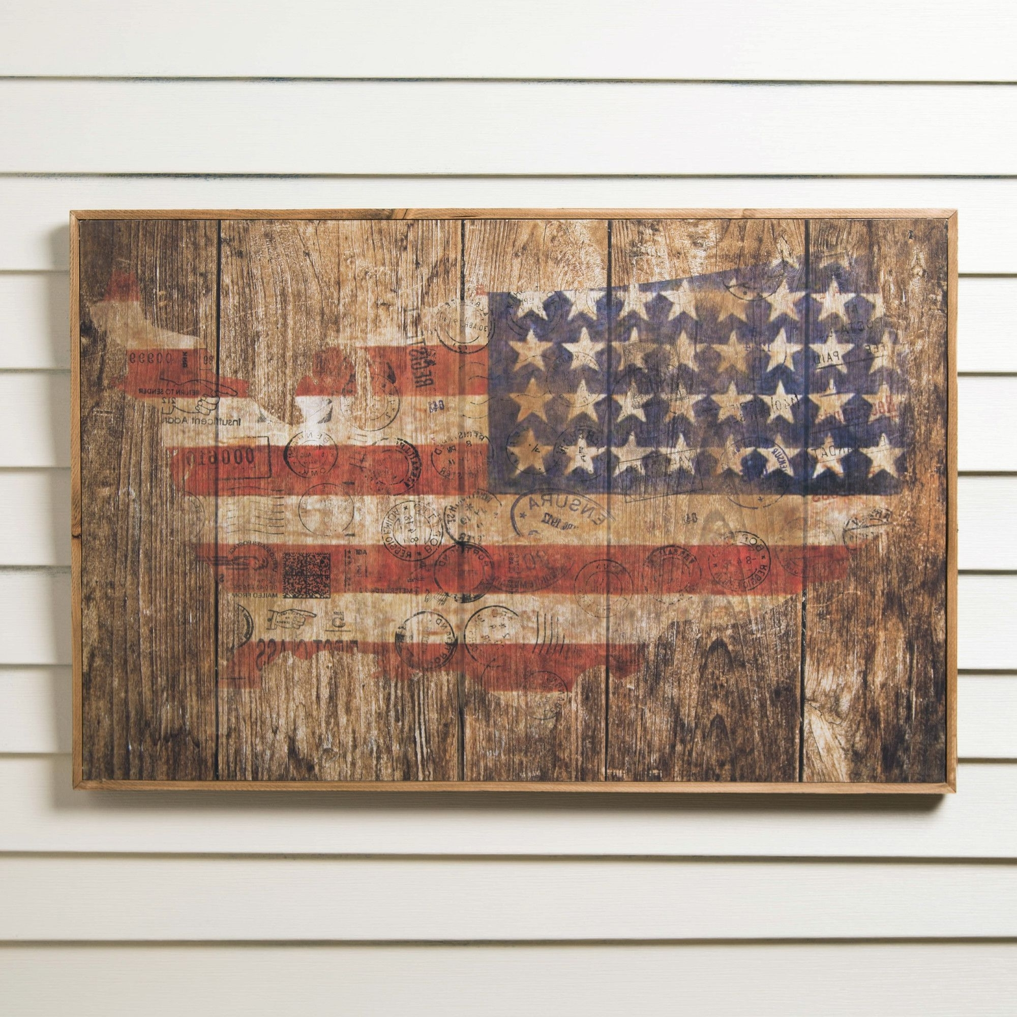 Rustic Charm, Birch Lane And Birch Throughout Famous Rustic American Flag Wall Art (View 11 of 15)