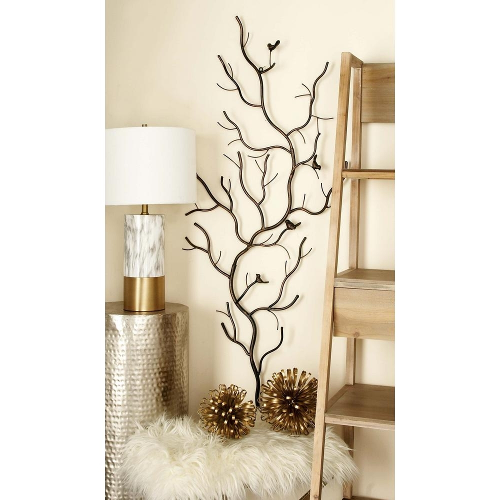 Rustic Iron Tree Decorative Nature Wall Decor Art Sculpture Home Pertaining To Most Recently Released Nature Wall Art (View 6 of 15)