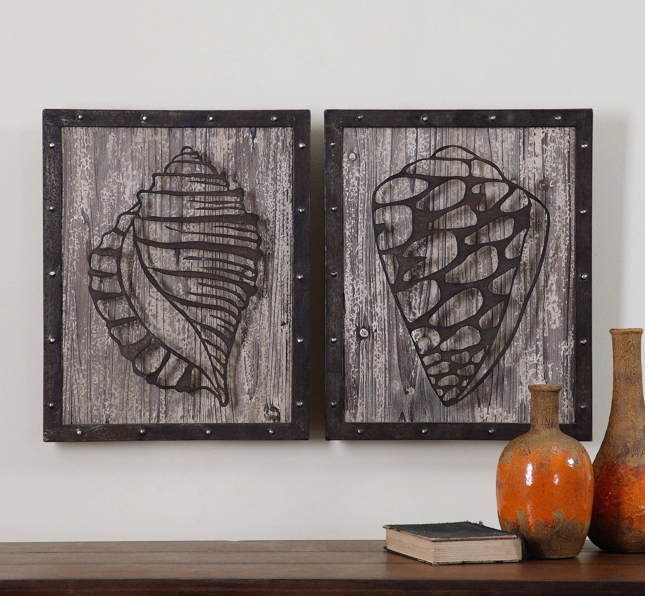 Rustic Metal Wall Art Pertaining To Trendy Rustic Wood And Metal Wall Art 2018 Latest Wood Metal Wall Art (View 13 of 15)