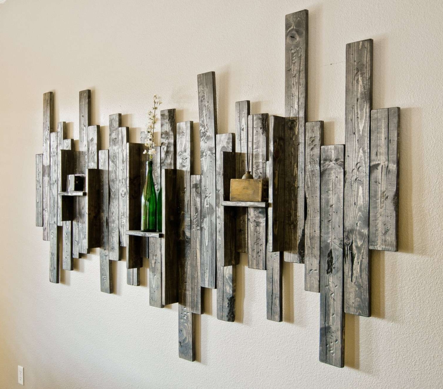 Rustic Wood And Metal Wall Art Large Metal And Wood Wall Art New in Latest Large Metal Wall Art