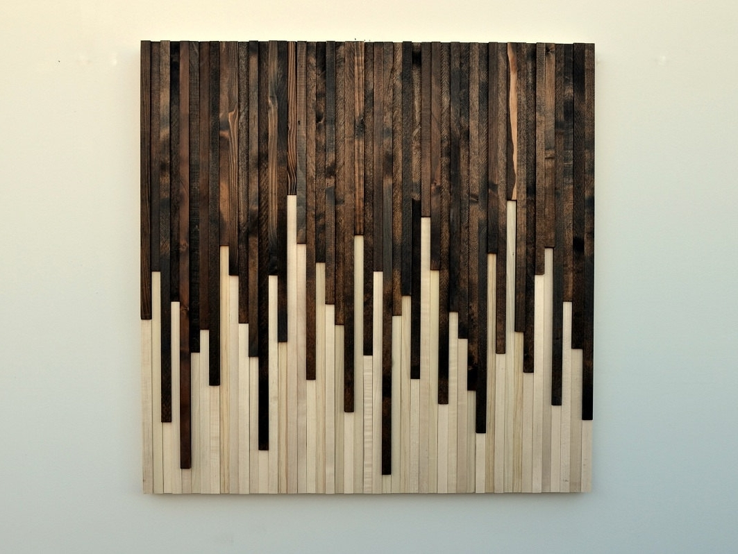 Rustic Wood Wall Art Sculpture Moderntextures – Tierra Este (View 9 of 15)
