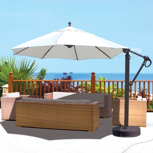 Sale Bali Pro 10 Square Rotating Cantilever Umbrella With Lights For Most Up To Date Sunbrella Patio Umbrella With Lights (View 8 of 15)