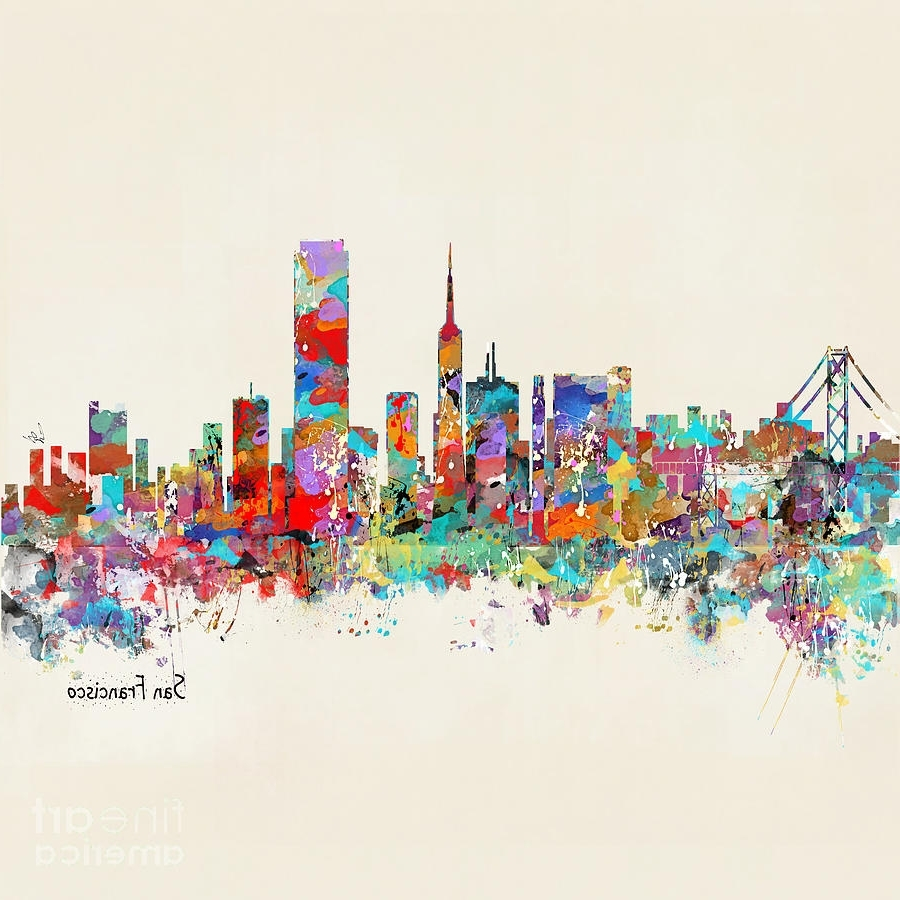 San Francisco California Skyline Paintingbri Buckley In Widely Used San Francisco Wall Art (View 2 of 15)