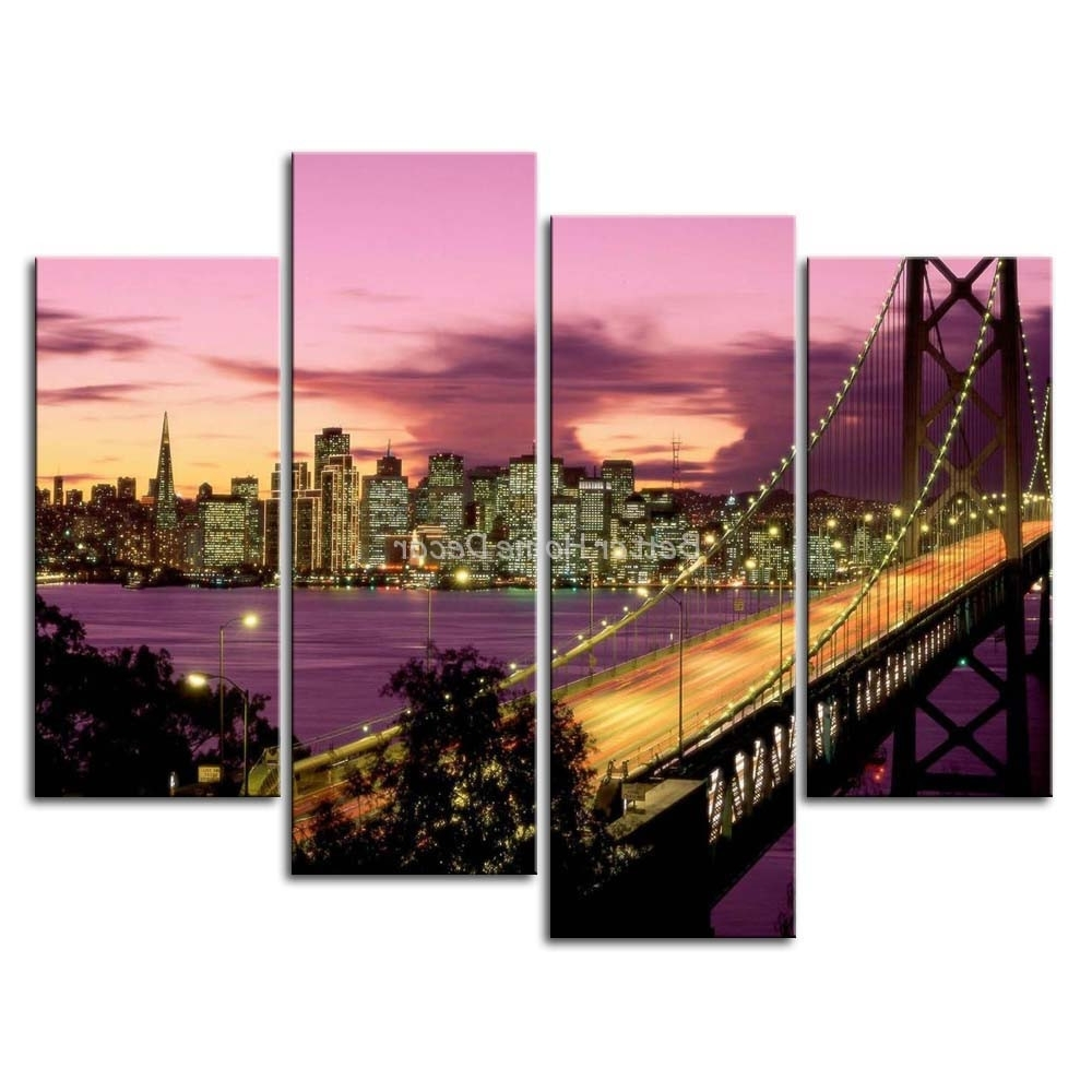 San Francisco Wall Art Intended For Current San Francisco Wall Art Nice Designs 3 Piece Painting – Mycraftingbox (View 9 of 15)