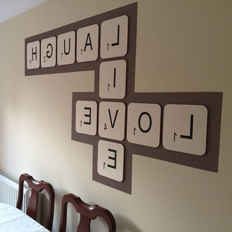 Scrabble Wall Art Pertaining To Most Up To Date Giant Scrabble Wall Lettercopperdot, Large Letter Wall Art – The (View 12 of 15)