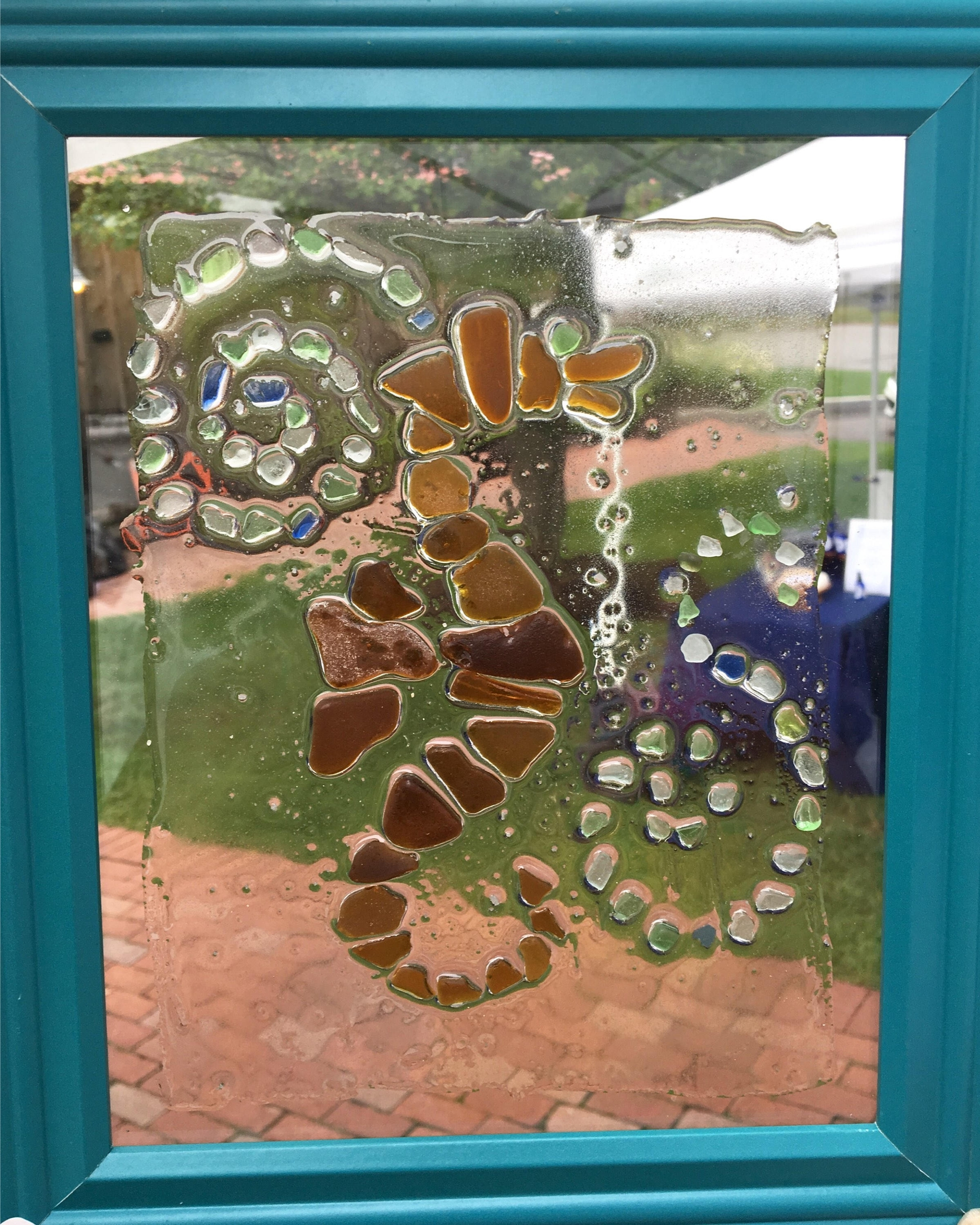 Sea Glass Wall Art Throughout Favorite Sea Glass Wall Art: Seahorse Design Made From Genuine Sea Glass 8X (View 7 of 15)