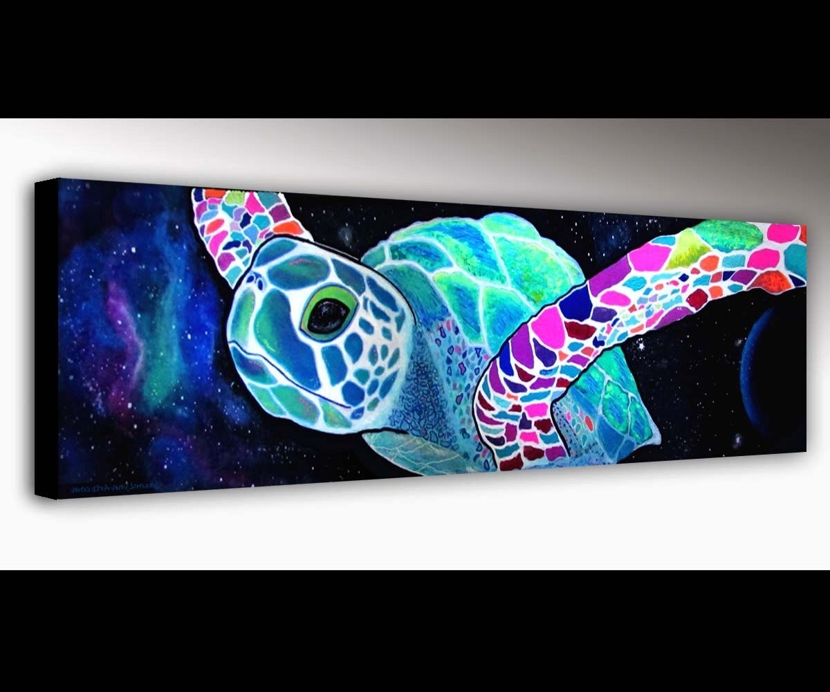 Sea Turtle Canvas Wall Art Regarding Most Popular Sea Turtle Wall Art (View 11 of 15)