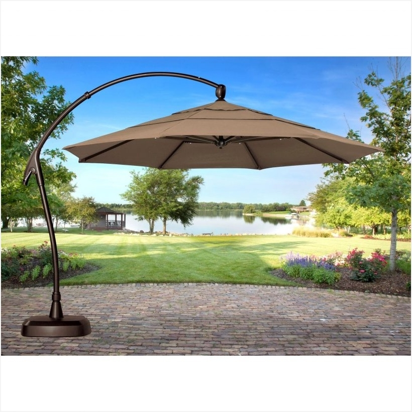 Sears Patio Umbrella » Inspirational Luxuriant Cantilever Patio Throughout Most Popular Sears Patio Umbrellas (View 12 of 15)
