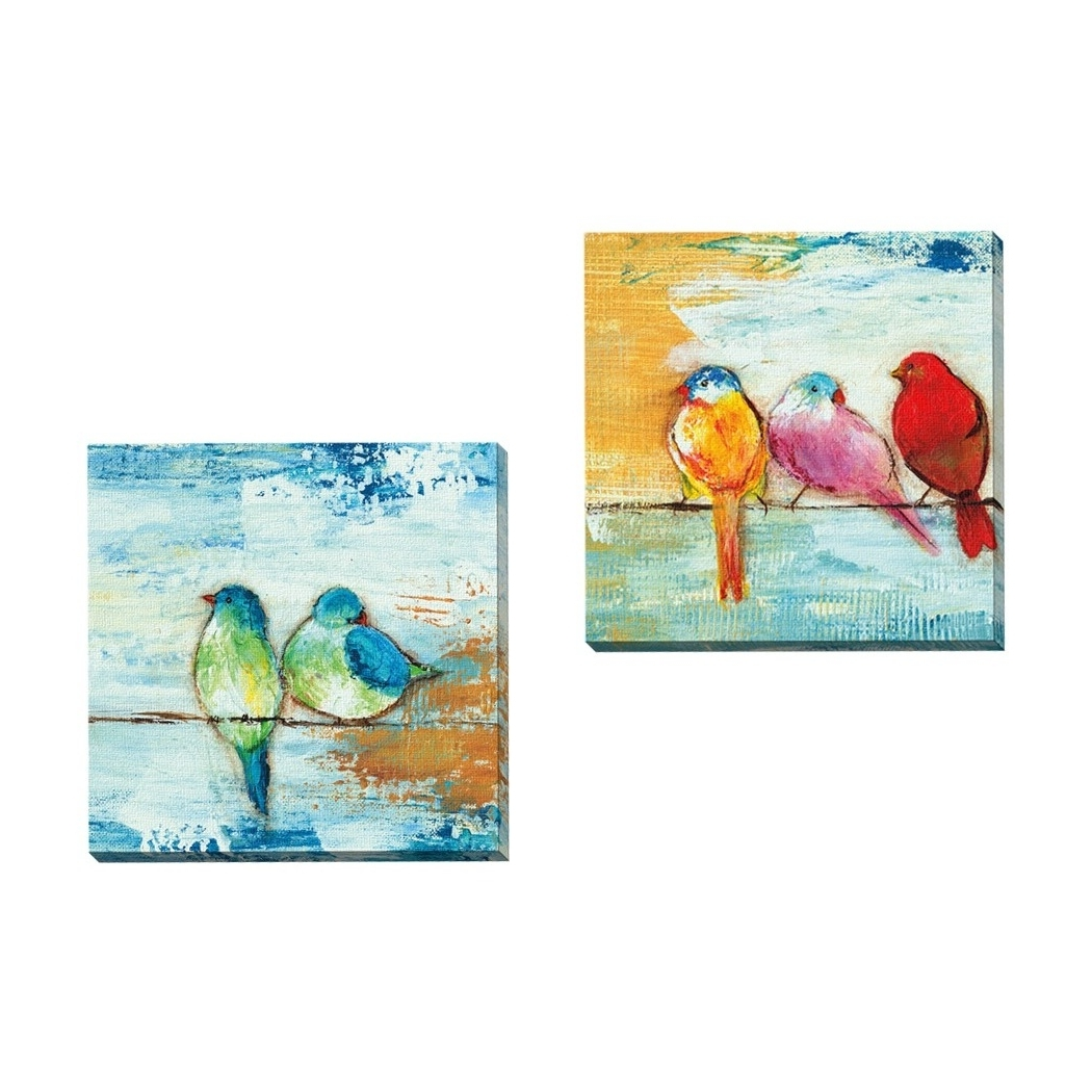 Shop Havenside Home 2 Piece Portfolio 'song Birds Ii' Framed Canvas With Regard To Most Popular Bird Framed Canvas Wall Art (View 10 of 15)