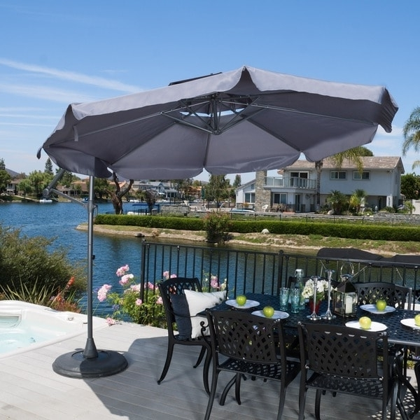 Shop Outdoor Baja Banana Canopy Umbrella With Basechristopher Intended For Preferred Extended Patio Umbrellas (View 14 of 15)