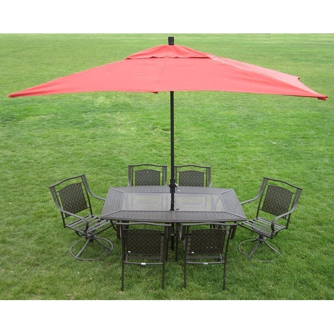 Shop Premium 10' Rectangular Patio Umbrella – On Sale – Free Regarding Well Liked Rectangle Patio Umbrellas (View 5 of 15)