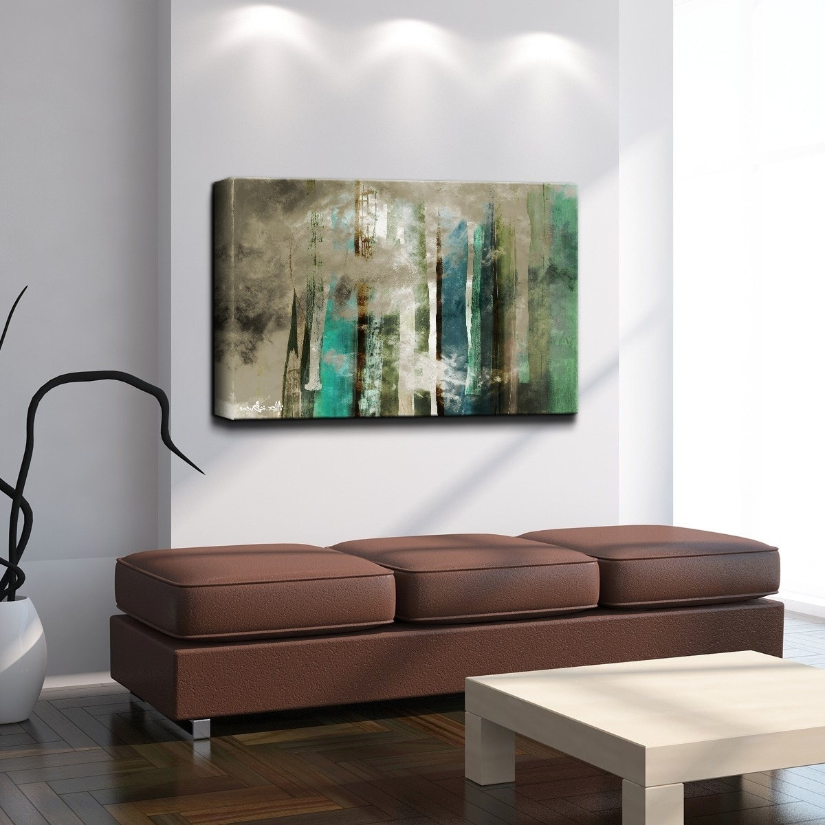 Shop Ready2Hangart 'smash Vi' Oversized Canvas Wall Art – Blue Intended For Best And Newest Cheap Oversized Canvas Wall Art (View 5 of 15)
