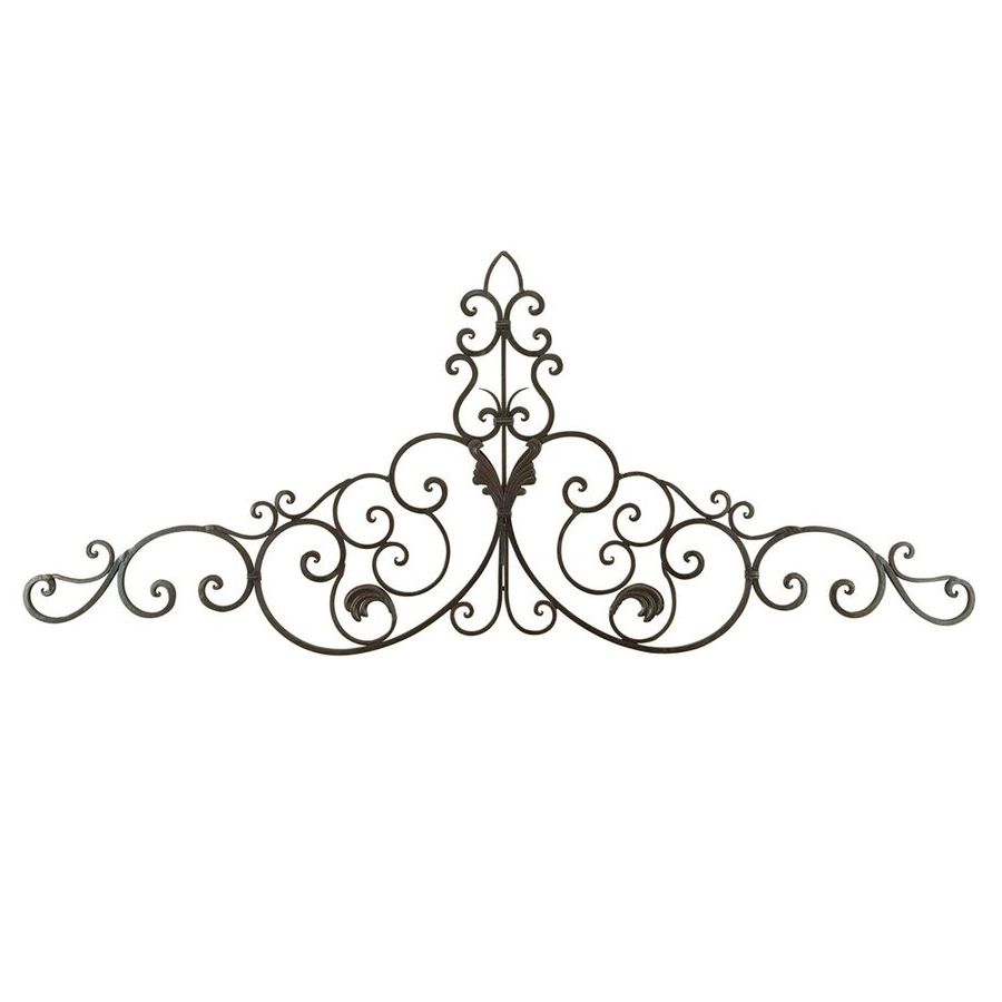 Shop Woodland Imports 59 In W X 24 In H Frameless Metal Scroll With Popular Metal Scroll Wall Art (View 10 of 15)