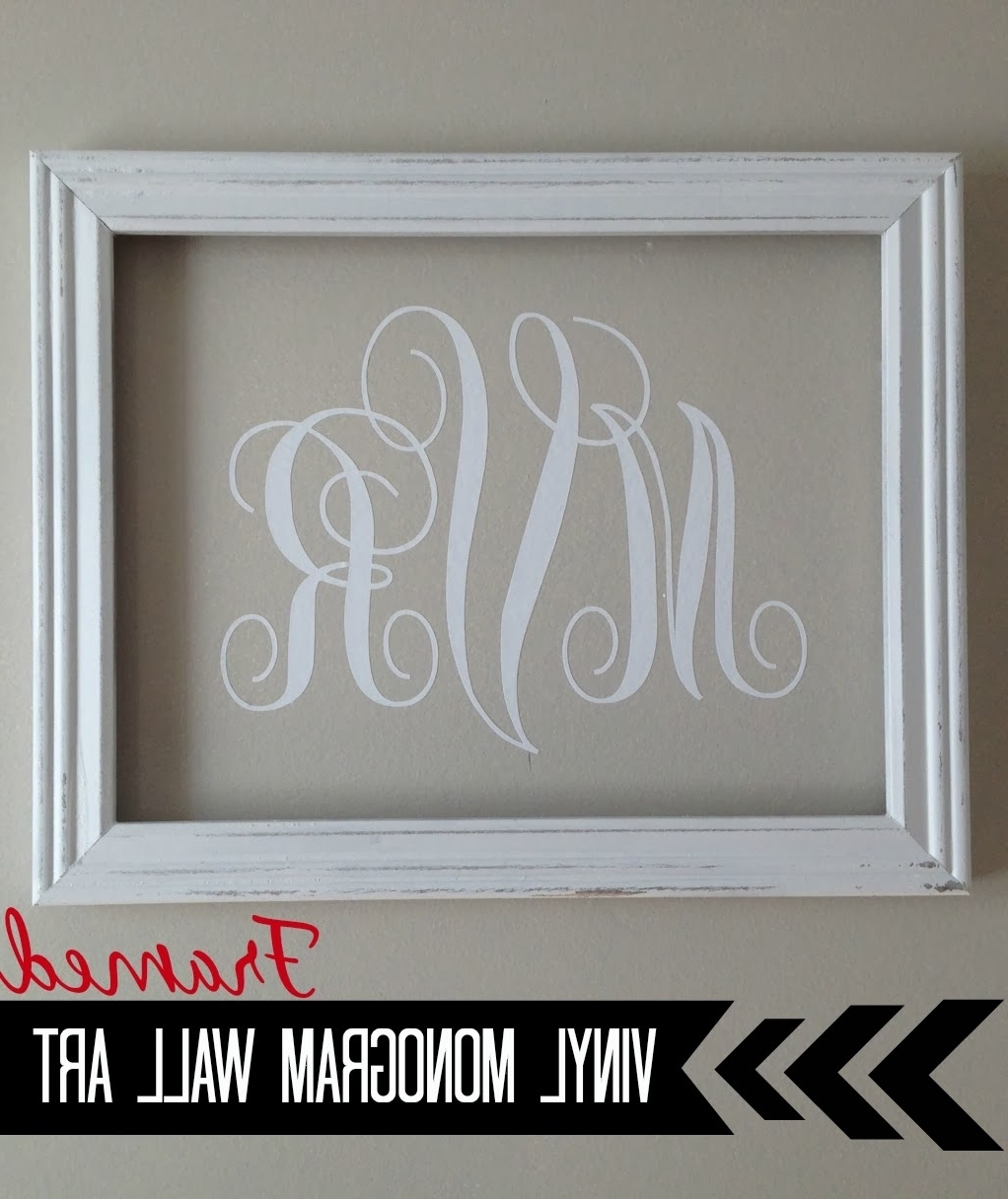 Silhouette} Vinyl Monogram Wall Art – Silhouette School Throughout Well Known Monogram Wall Art (View 13 of 15)
