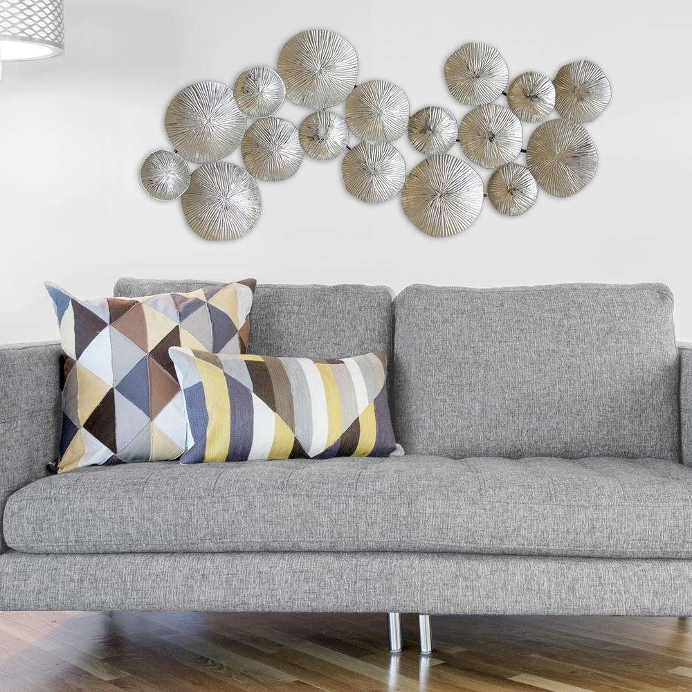 Silver Wall Art Inside Well Known Stratton Home Decor Silver Circles Metal Wall Decor S03905 – The (View 7 of 15)