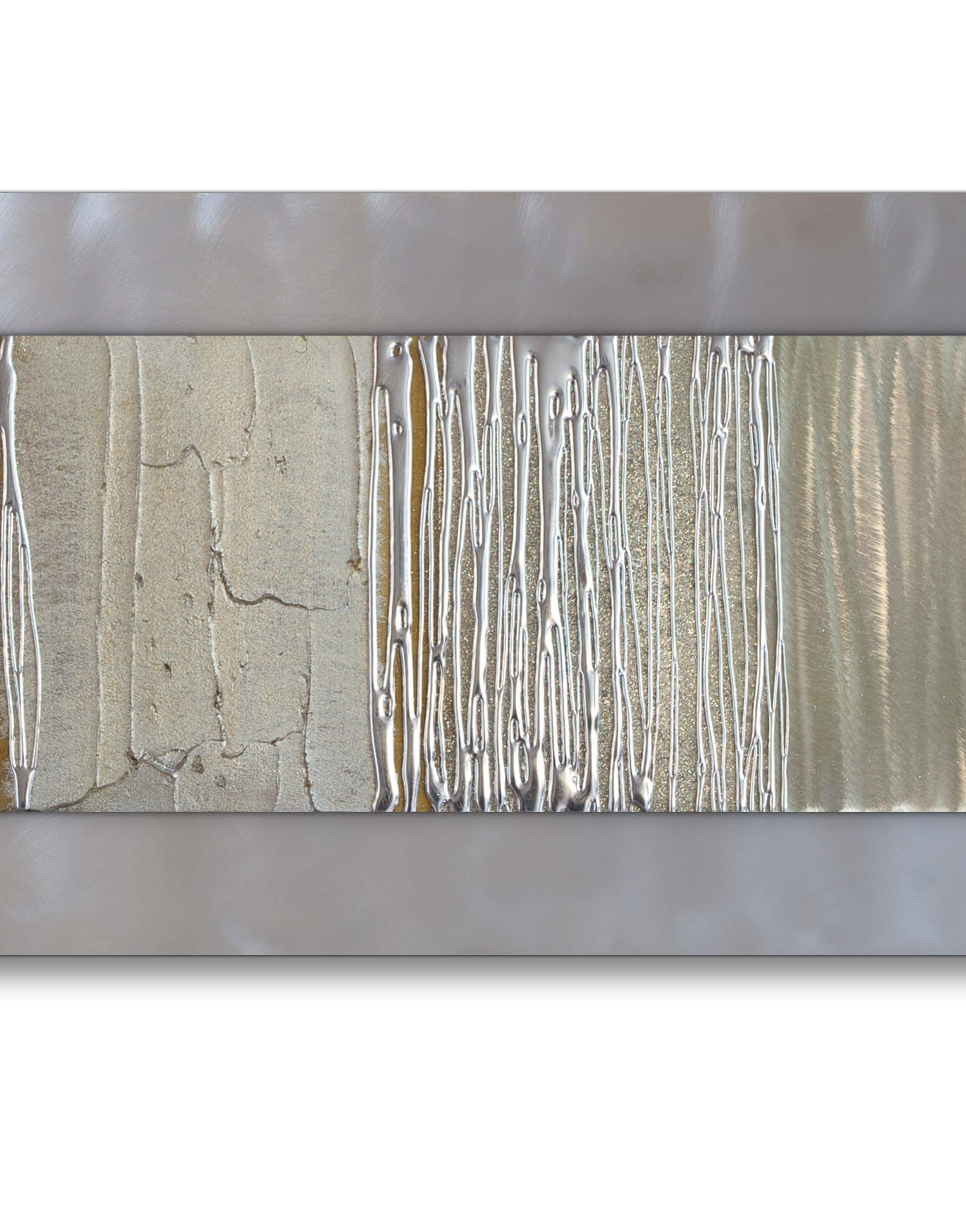 Silver Wall Art Throughout 2017 Echo Champagne – Silver Wall Art, Contemporary Art Uk (View 6 of 15)