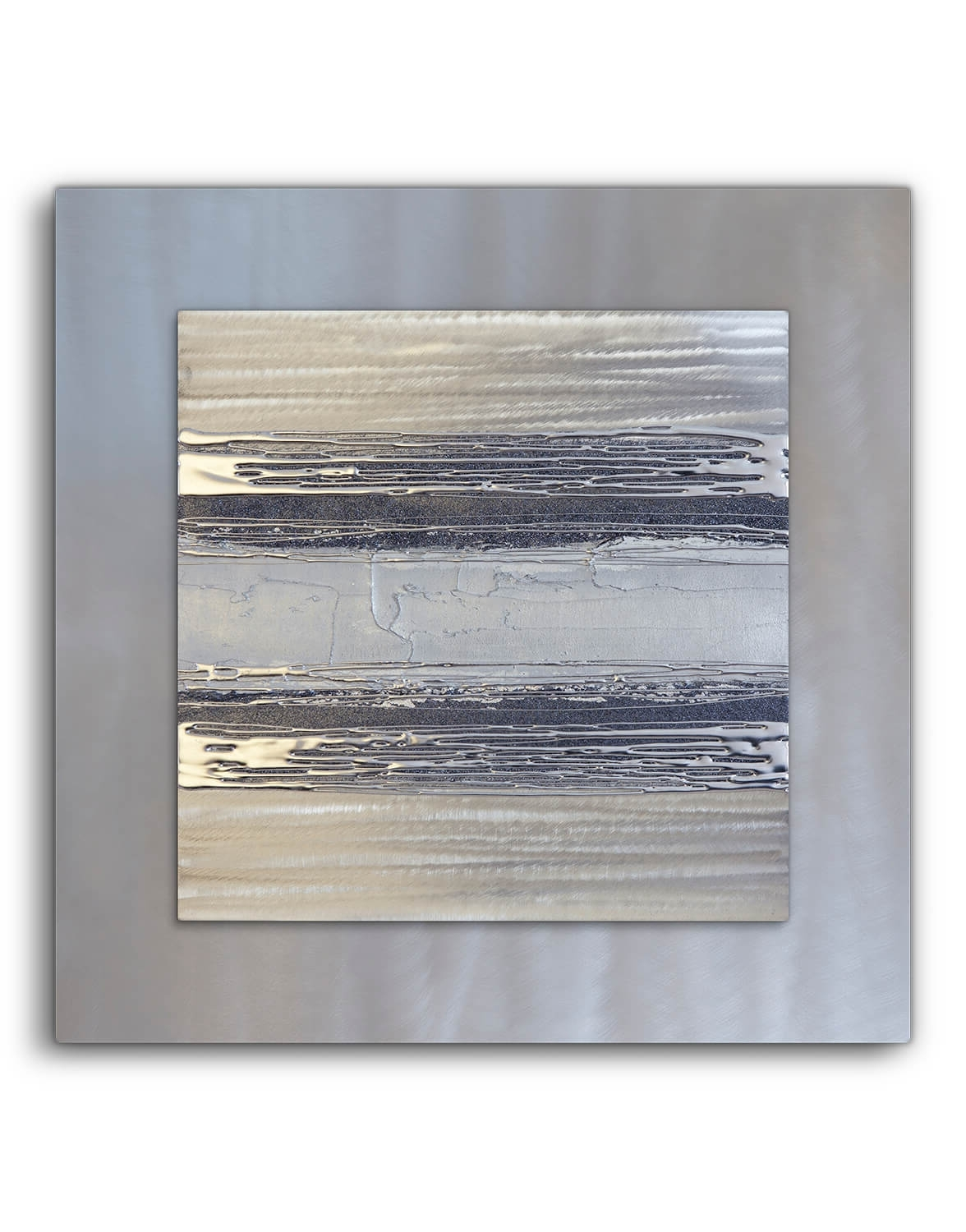 Silver Wall Art Throughout Popular Contemporary Square Silver Grey Ii – Silver Wall Art, Contemporary (View 9 of 15)