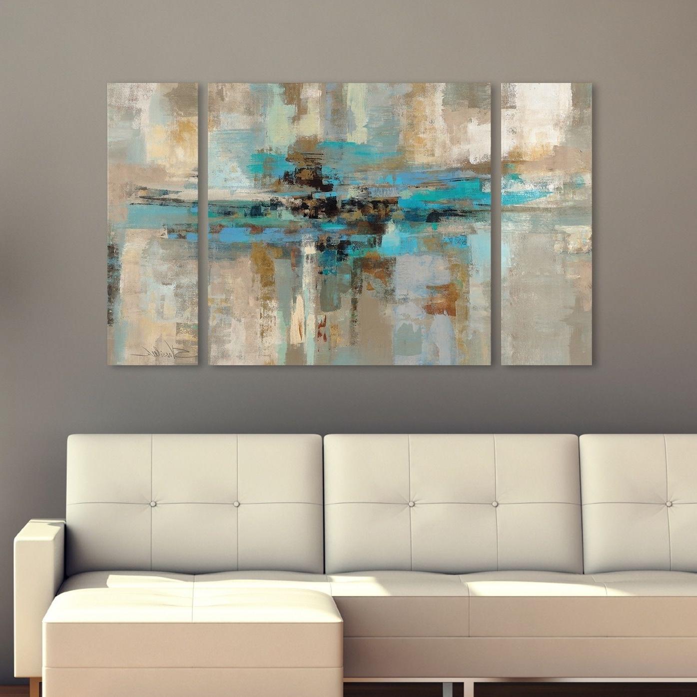 Silvia Vassileva Morning Fjord 3 Piece Canvas Wall Art Set In Most Current 3 Piece Canvas Wall Art (Gallery 11 of 15)