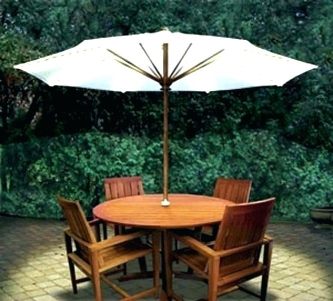 Small Outdoor Table With Umbrella – Az1 Inside Preferred Small Patio Tables With Umbrellas (View 9 of 15)