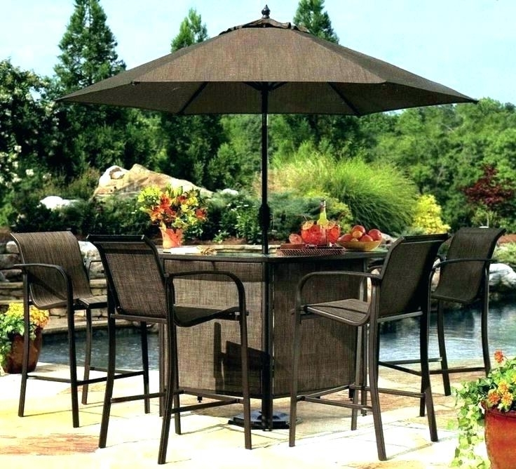 Small Patio Table With Umbrella Hole For Stunning Charming With Preferred Small Patio Tables With Umbrellas Hole (View 10 of 15)