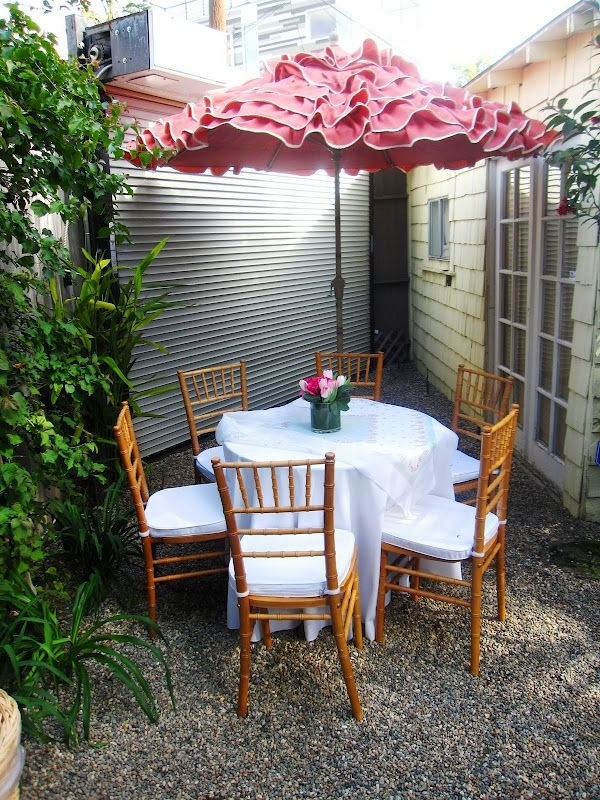Small Patio Tables With Umbrellas Regarding Most Recently Released Small Patio Table With Umbrella Small Patio Furniture With Umbrella (View 11 of 15)