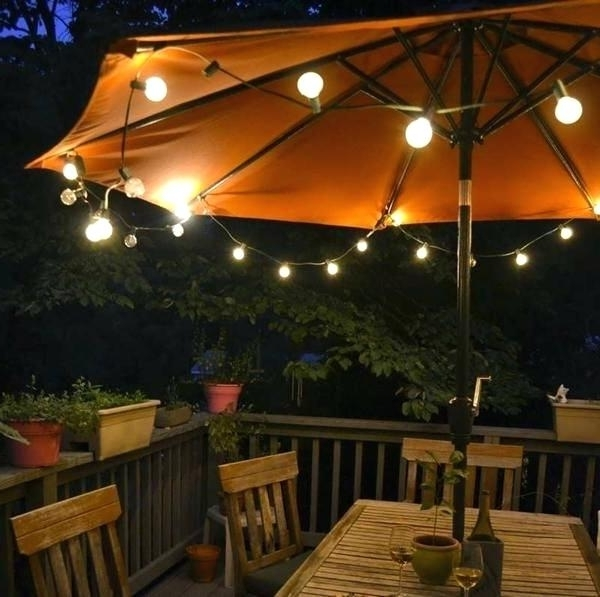 Solar Lights For Patio Umbrellas With Current Umbrella With Lights Patio Umbrellas With Lights Patio Umbrella (View 10 of 15)