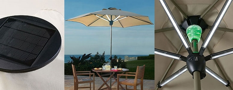 Solar Patio Umbrellas Throughout Most Current Solar Lighted Patio Umbrella – Darcylea Design (View 5 of 15)