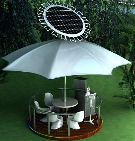 Solar Powered Umbrellas Solar Powered Patio Umbrella Fan Solar With Regard To Well Liked Solar Powered Patio Umbrellas (View 14 of 15)