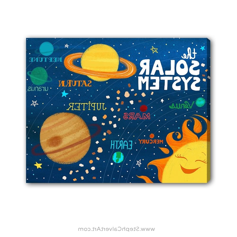 Solar System Wall Art – Steph Calvert Art For Latest Kids Wall Art (View 9 of 15)