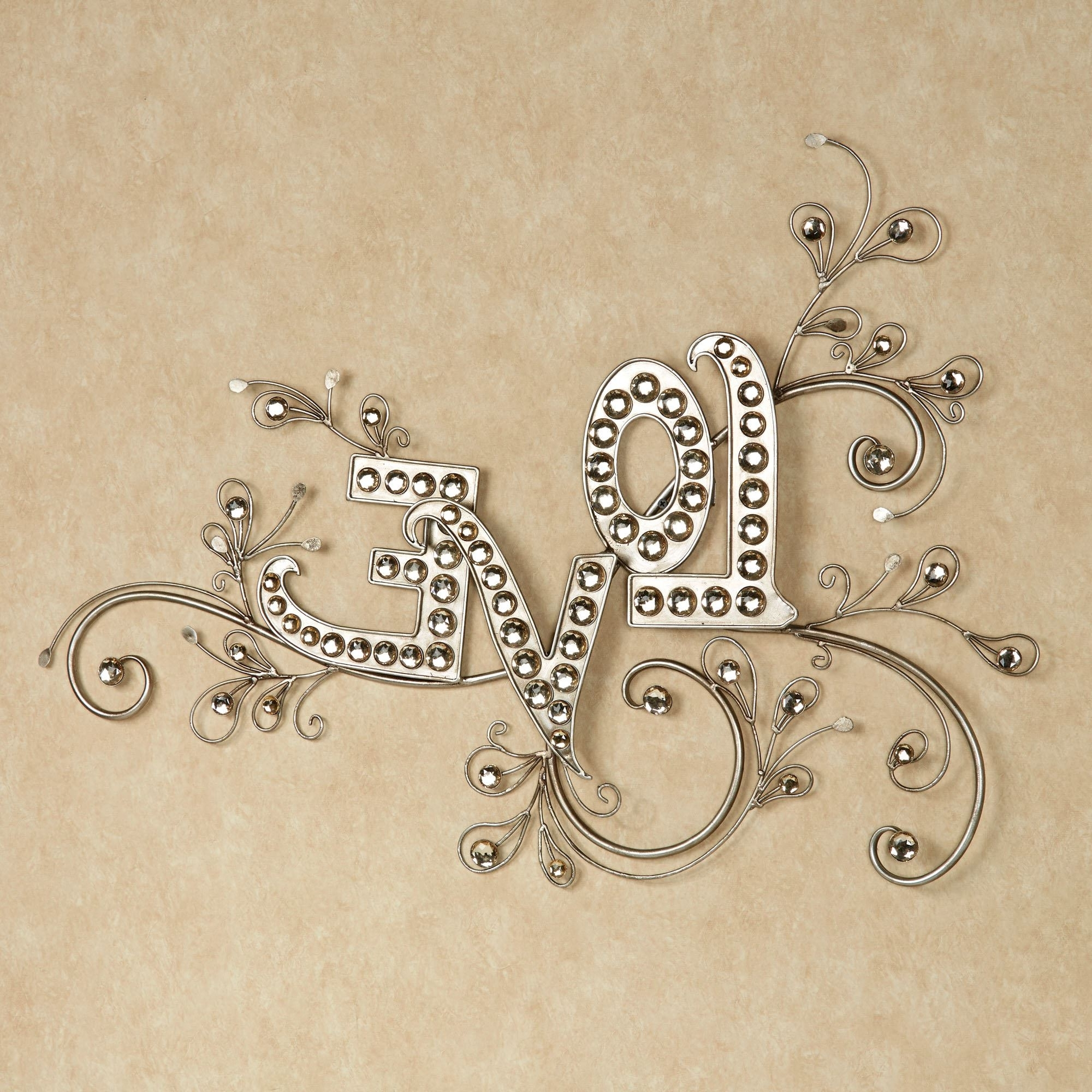 Sparkling Love Gem Word Wall Art Intended For Famous Word Wall Art (View 8 of 15)