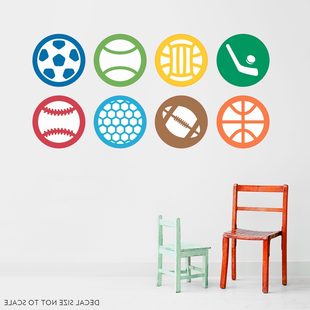 Sports Sticker Color Pack Printed Wall Decal In Favorite Sports Wall Art (View 2 of 15)